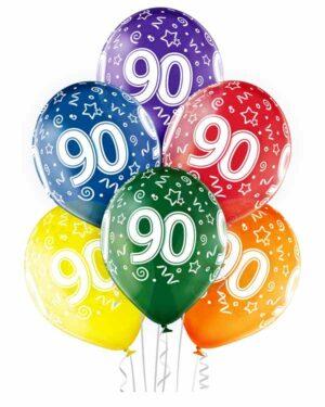 """Lateksballong: """"90"""" - Flere farger - 30cm - Per stk"""