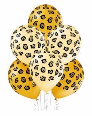 Lateksballonger (6stk): Leopard Mønster - 30cm