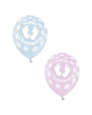 Lateksballong: Christening - Flere farger - 30cm