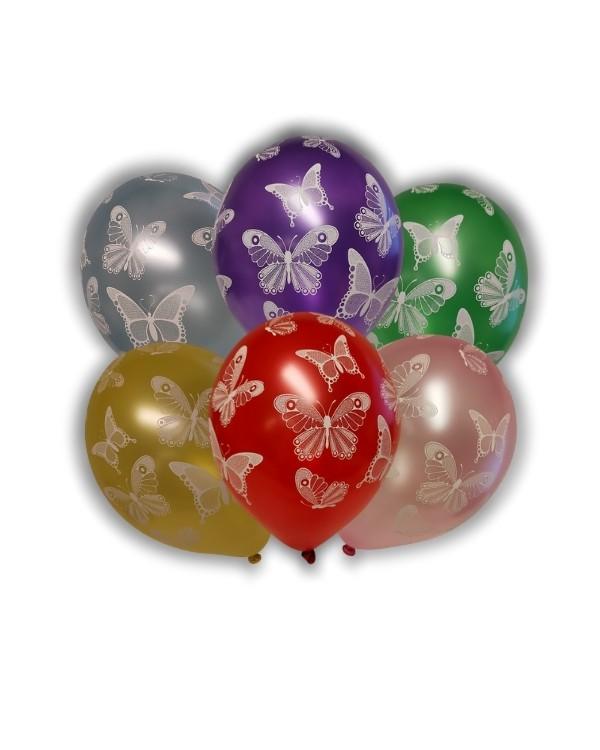 Lateksballong: Sommerfugler - Flere farger - 30cm - Per stk