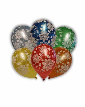 Lateksballong: Blomster - Flere farger - 30cm - Per stk