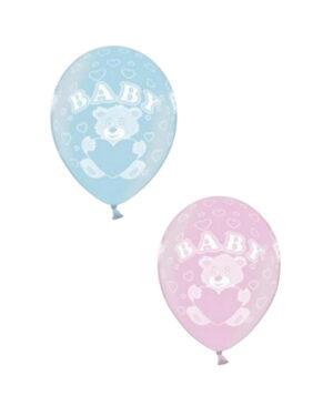 """Lateksballonger (50stk): """"Baby"""" - Flere farger - 30cm"""