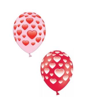 Lateksballong: Hjerter - 30cm - Flere farger - Per stk