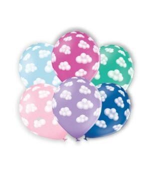 Lateksballong: Skyer - Flere farger - 30cm - Per stk