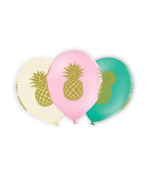 Lateksballong: Ananas - Flere farger - 30cm - Per stk