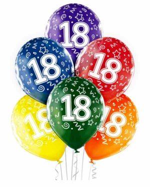 """Lateksballong: """"18"""" - Flere farger - 30cm - Per stk"""