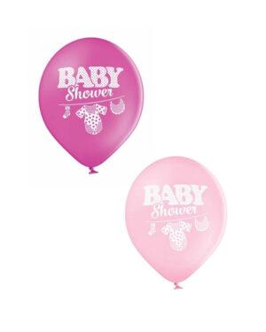 """Lateksballong: """"Baby Shower"""" med babyklær - Flere farger - 30cm - Per stk"""