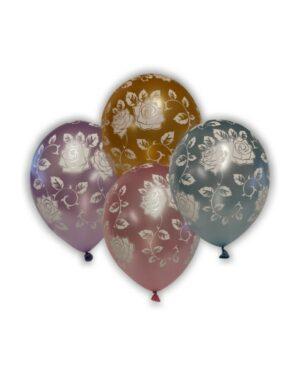 Lateksballong: Roser - Flere farger - 30cm - Per stk