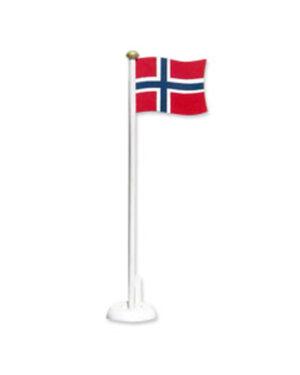 Bordflagg (6stk): Norsk bordflagg i tre - 32cm