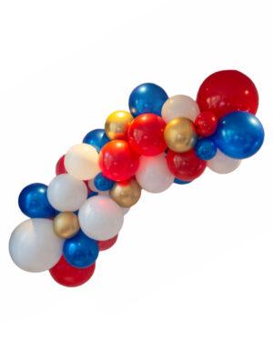 Organisk klase: 17. mai Rødt, hvit & blått lateksbukett